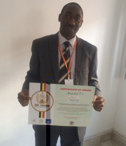staffer with award