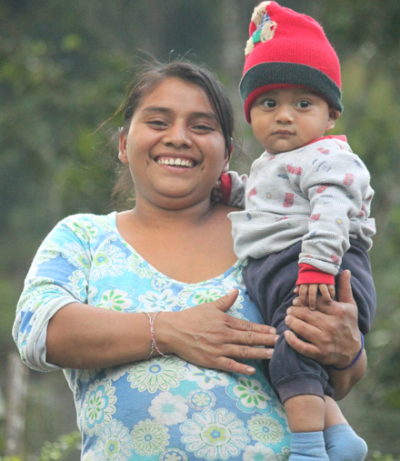 Jose's wife and child