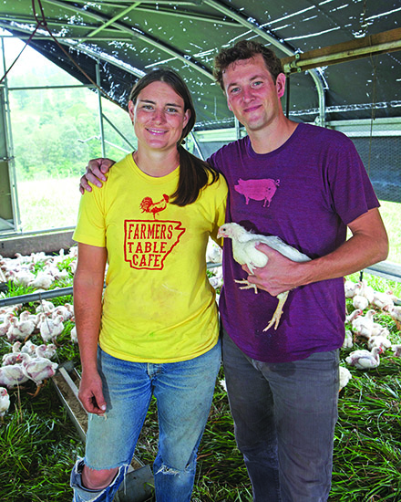 Andrea Todt and Cody Hopkins run Falling Sky Farm.
