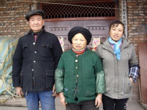 Chang Julan and her parents